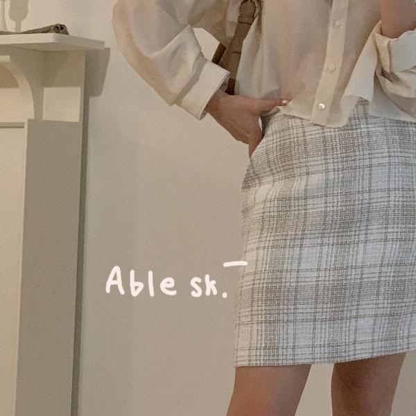 누보 - 에이블 린넨 스커트 ( able sk. )