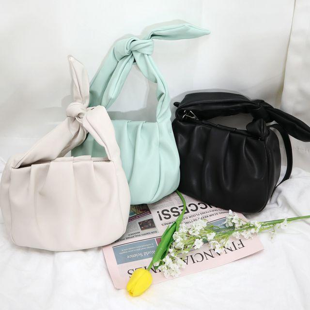 유z - 셔링 미니 숄더 크로스 백 가방