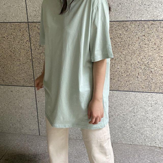 비올 - 무지 박스 티셔츠