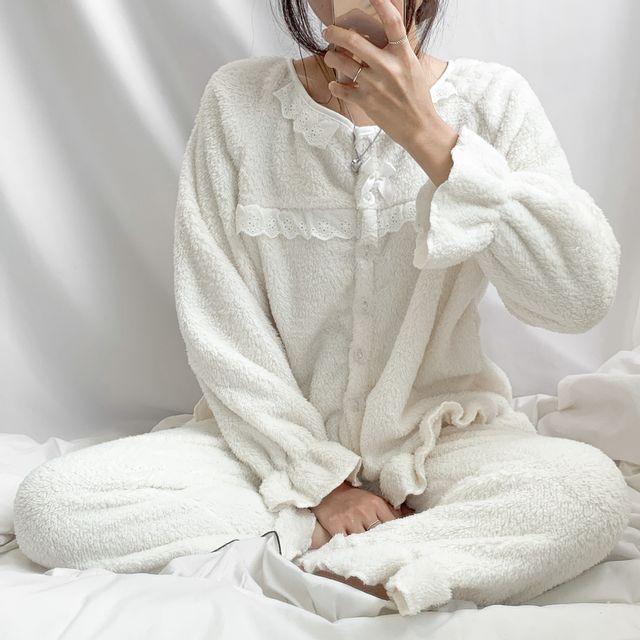 공오일육 - [원피스,투피스 2가지 버전]폭신폭신,클라우드 투피스 수면잠옷 세트