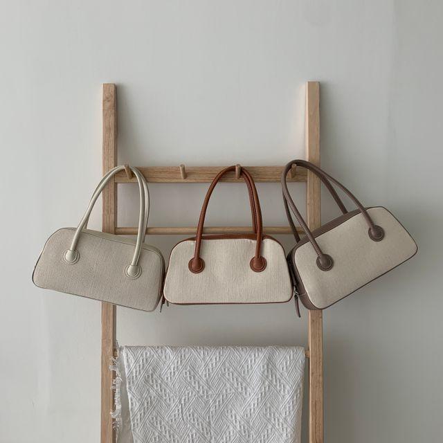 헤브비 - [헤브비] rattan square bag (3color)