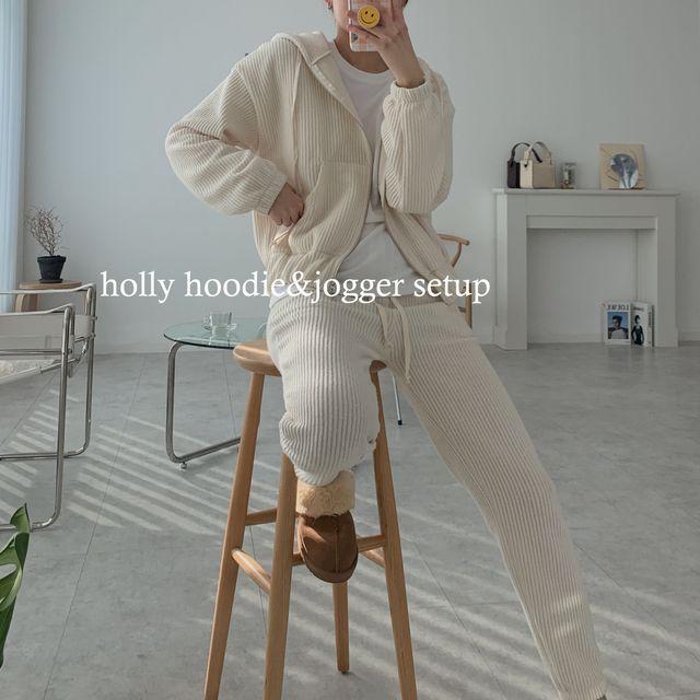 헤브비 - 홀리 후드&조거 세트