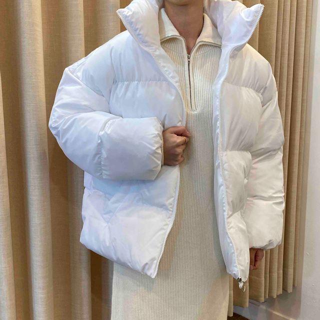 제이브라운 - 1+1 겨울 하이넥 웰론솜 동그리 숏패딩