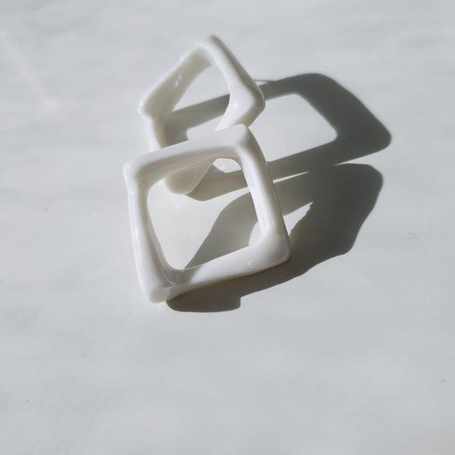 수공품 - square 사각 귀걸이