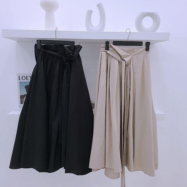 바비의옷장 -  바스락 밴딩 스커트 2color